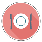 Dinner plate icon.