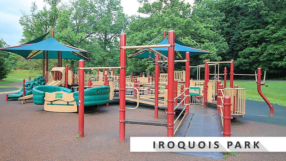 Playground at Iroquois park in Louisville.
