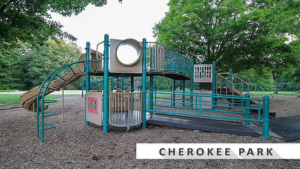 Playground at Cherokee Park in the Highlands