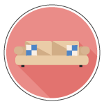 Living room couch icon - staging.