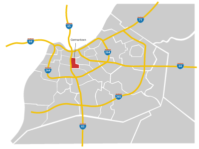 Germantown Neighborhood map - Louisville
