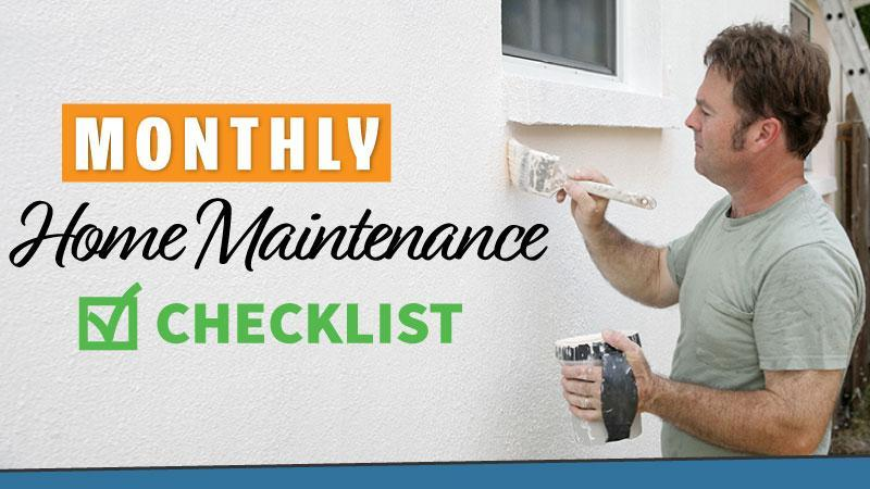 Home maintenance checklist - cover