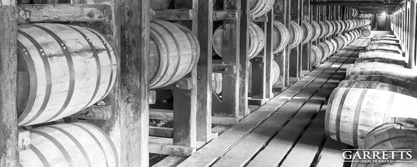 Louisville Kentucky barrels of bourbon
