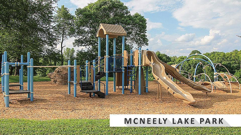 Playground at McNeely Lake by Quail Chase golf course.