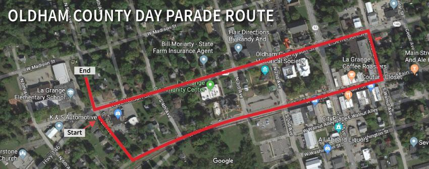 Oldham County Day Parade Route