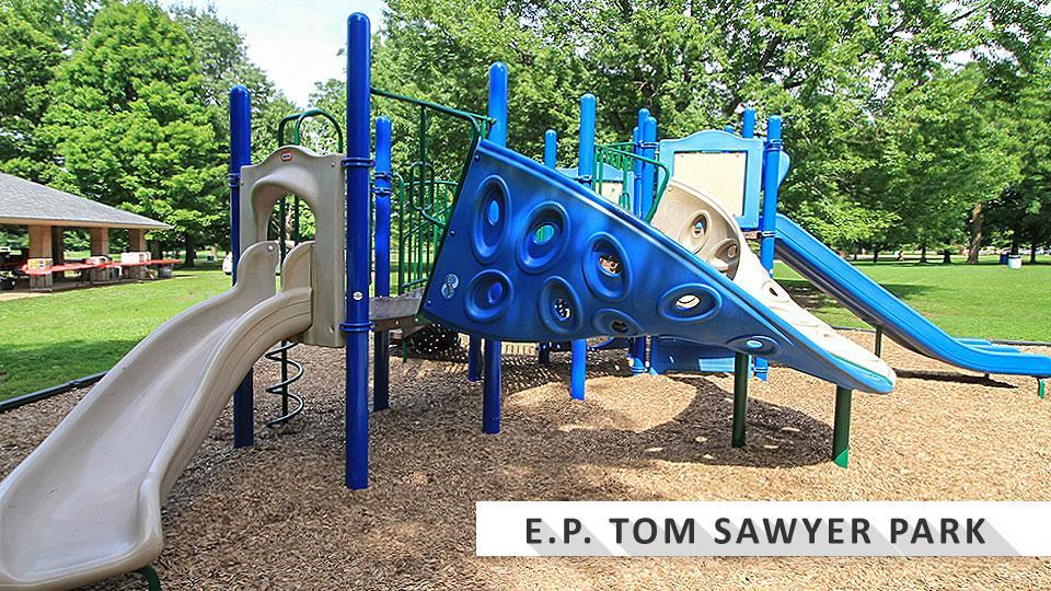 Playground at EP Tom Sawyer State Park.