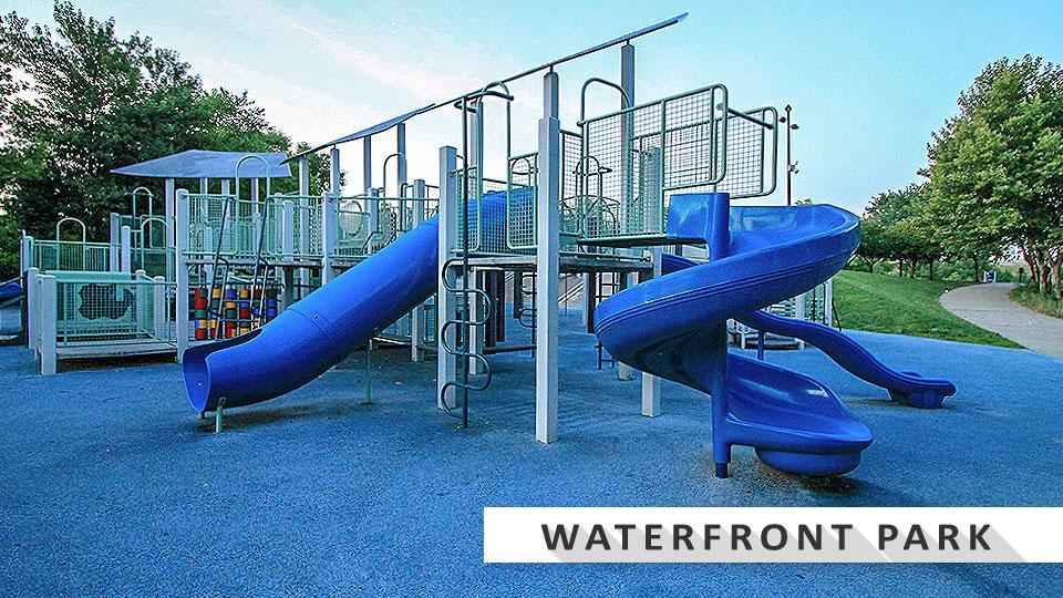 Waterfront Park playground in Downtown Louisville.