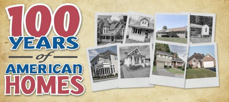 Popular styles of American homes over 100 years.