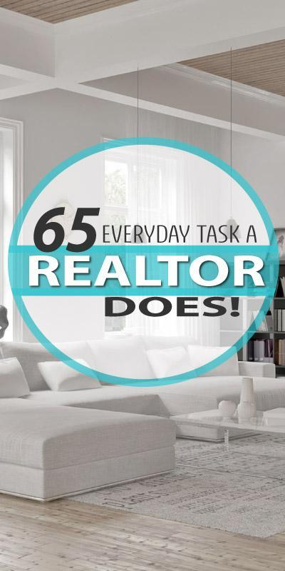 Long list of things REALTORS do when Selling a Home.